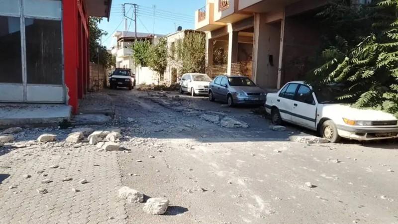 Σεισμός Κρήτη: Ζημιές στο Αρκαλοχώρι