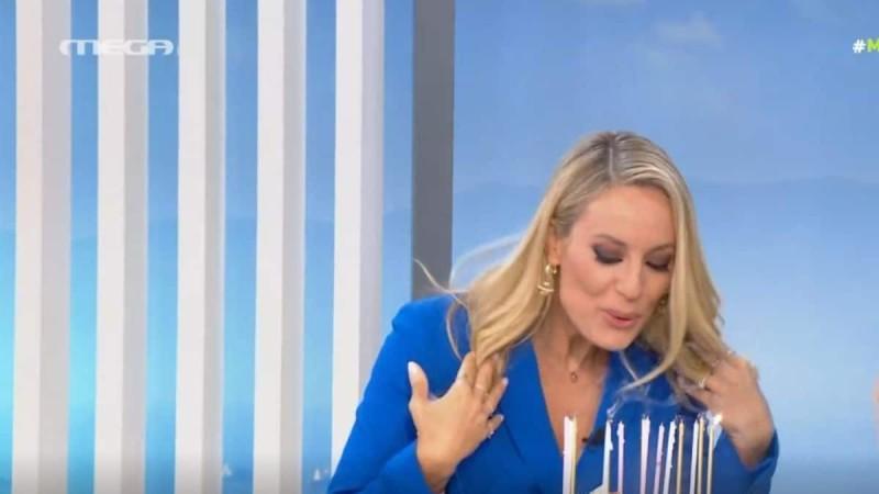 MEGA Καλημέρα: Γενέθλια για την Ελεονώρα Μελέτη - Έσβησε on air τα κεράκια της τούρτας