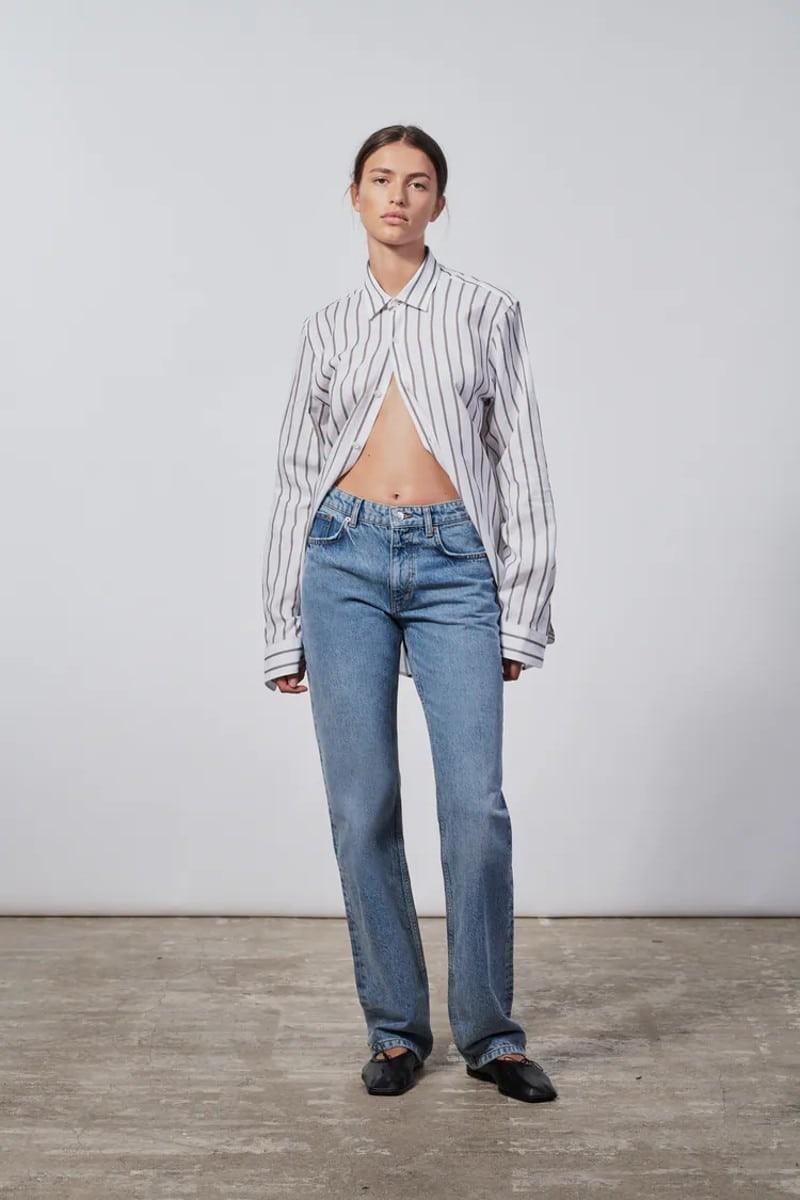 Zara μπλε τζιν παντελόνι