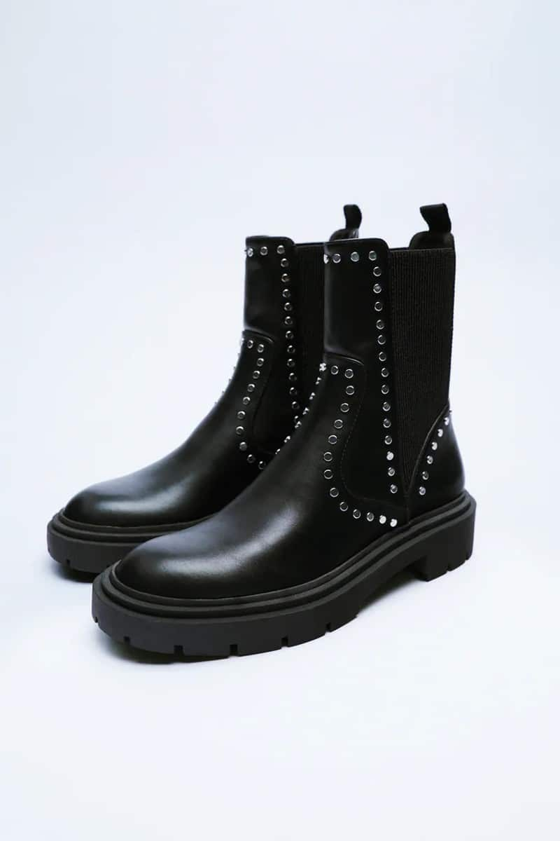 Zara μαύρα μποτάκια